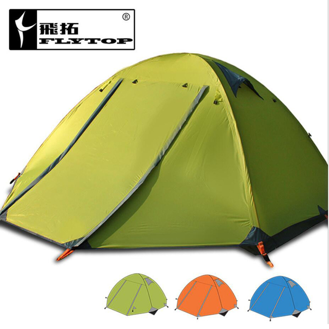2.9kg Waterproof Tent 3-4 Person Double Layers Aluminum Rod Travel Fishing Beach Camping Tent Outdoor Tents Camping Family China