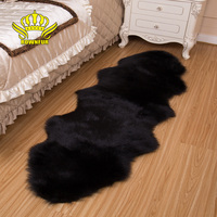 ROWNFUR Soft Artificial Sheepskin Carpet For Living Room Kids Bedroom Chair Cover Fluffy Hairy Anti Slip Faux Fur Rug Floor Mat
