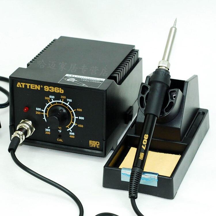 110/220V HAKKO 936 Soldering Station 907 soldering handle + 10 High Quality Solder Tips  цены