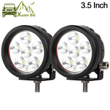 XuanBa 2Pcs 3.5 inch 18W Mini Round Led Work Light For 4x4 Offroad Truck Motorcycle Tractor 12V 24V ATV Driving Lights Fog Lamp