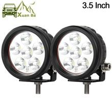 XuanBa 2Pcs 3,5 zoll 18W Mini Runde Led Work Licht Für 4x4 Offroad Lkw Motorrad Traktor 12V 24V ATV Fahren Lichter Nebel Lampe
