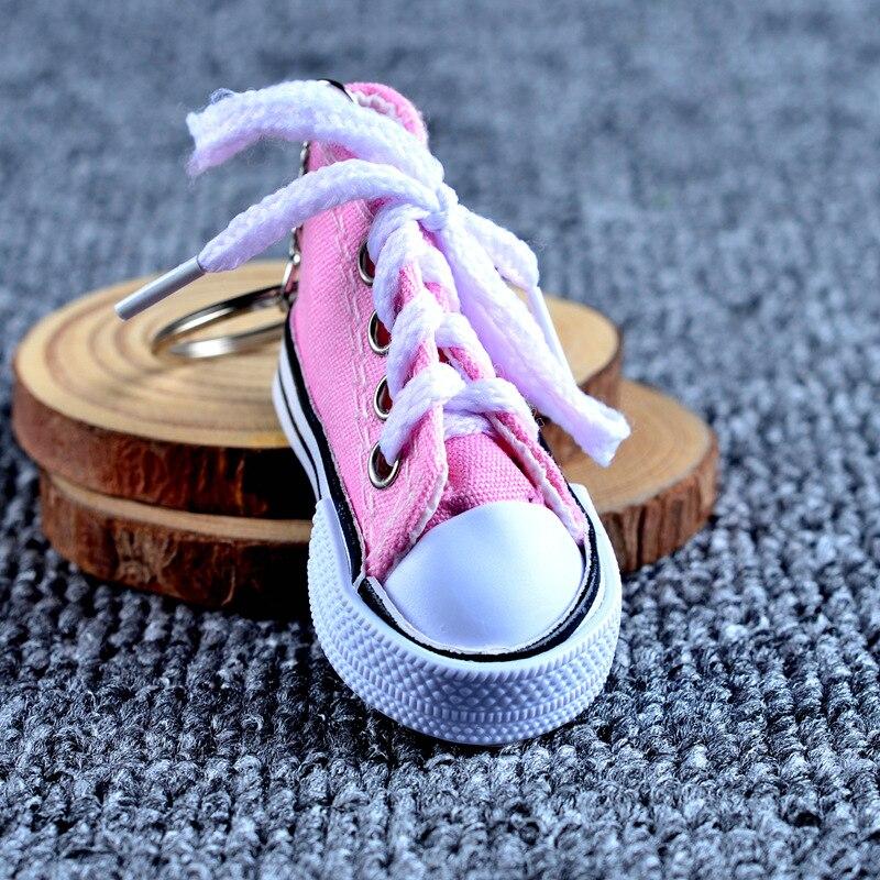Брезентовая обувь с пряжкой, повседневный брелок на ключи в виде обуви, цветные брелки для обуви, металлические аксессуары для сумок - 4