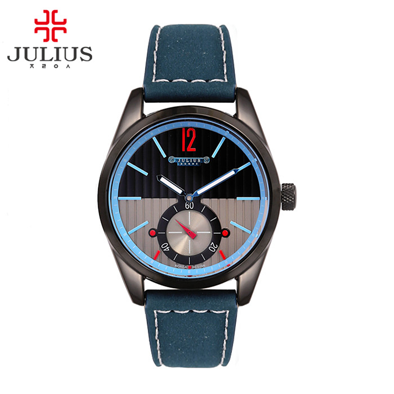 Julius Man Wrist Watch Quartz Hours Top Fashion Retro Assorted Dress Bracelet Leather Boy Birthday Christmas