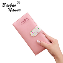 2019 Latest Women Leather Long Wallet Cute Dost Female Coin Purse Change Clasp Purse Money Bag Coin Card Holders Wallets