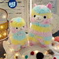 Японский радуга alpacasso альпака кукла красочные верховая грязь животных плюшевые игрушки детские подарки kawaii плюшевые игрушки