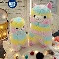 Japonés alpacasso alpaca muñeca caballo colorido del arco iris barro animal kawaii peluche juguetes de peluche de felpa juguetes para niños regalos