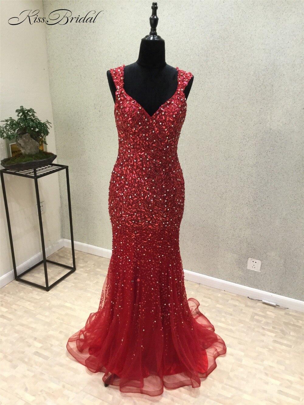 abendkleider New Modest Long   Evening     Dress   2018 Sleeveless Beading Sequins Mermaid Party Prom   Dresses   Vestido de festa