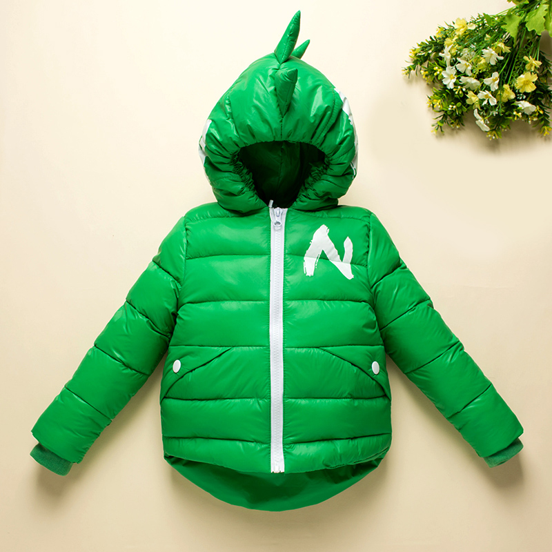 Winter Children Boys Jackets Cartoon Tyrannosaurus Girls Winter Coat Kids Outerwear Baby Boys/Girls Down Jacket Infant Clothes 3