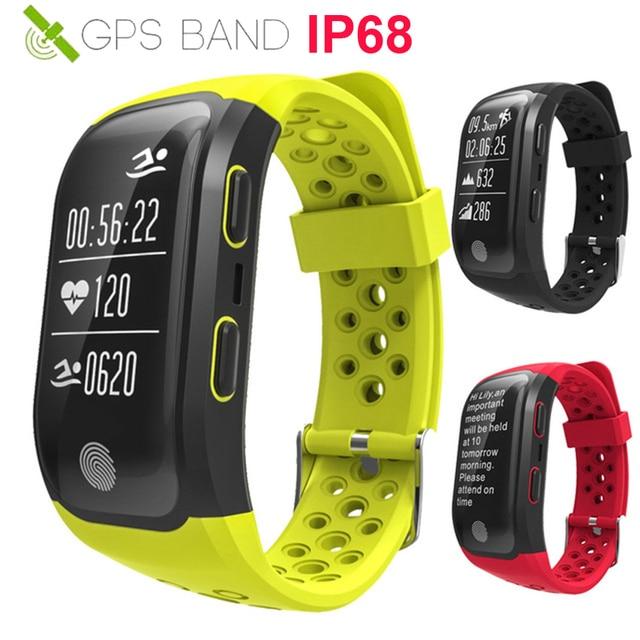 38ac57c7cc4 HOT IP68 Nadar Relógio Inteligente GPS Corrida Ciclo Subida Montre Conectar  GPS Esporte Heart
