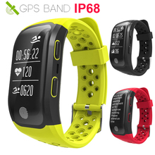 HOT IP68 Swim Good Watch GPS Working/Cycle/Climb Coronary heart Charge Monitor Pulse Well being Health Band For IOS/Xiaomi/Sony Smartwatch