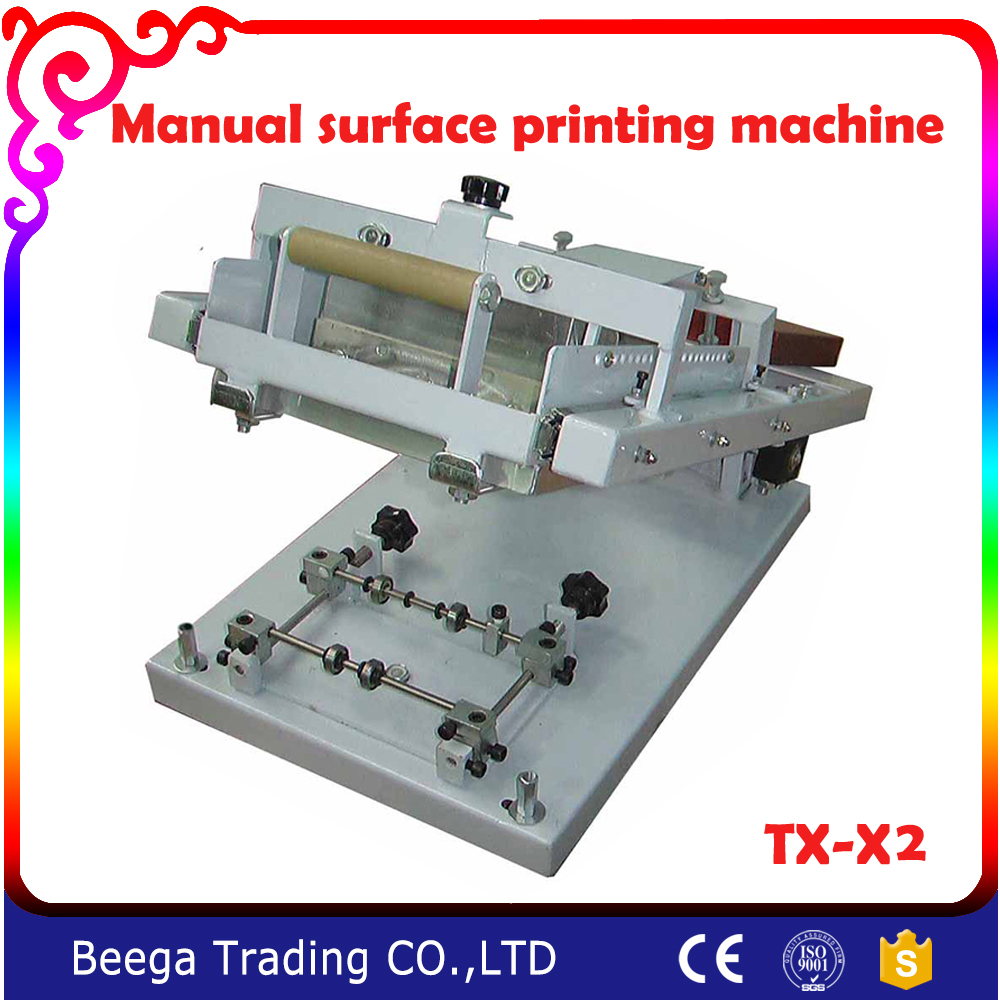 TX-X2 Surface Curve Screen Printing Press Manual Screen Cylinder Printing Machine for Bottle/Cup Wholesale Price цена 2017