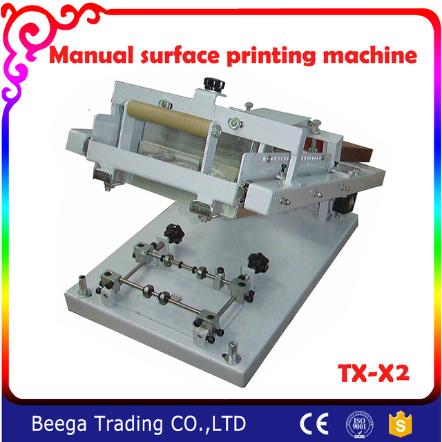 TX X2 Surface Curve Screen Printing Press Manual Cylinder Machine For Bottle