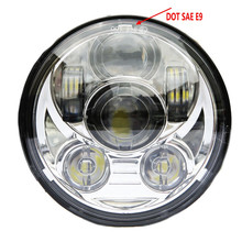 DOT , SAE , Emarked  5 3/4 5.75 Inch 45W Daymaker Projector LED Headlight for Harley Davidson Motorcycles