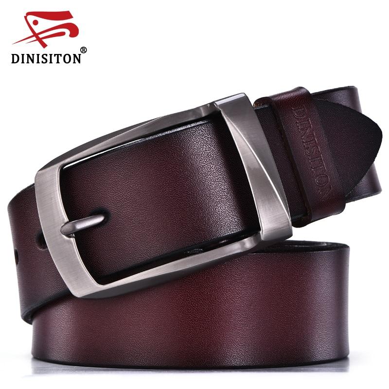 DINISITON مصمم أحزمة الرجال جودة عالية جلد طبيعي حزام الرجل الأزياء حزام الذكور أحزمة جلد البقر للرجال جينز جلد البقر