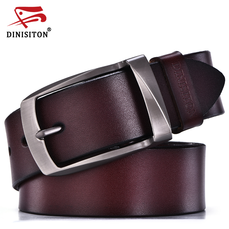 DINISITON designer gürtel männer hohe qualität aus echtem leder gürtel mann mode riemen männlichen rindsleder gürtel für männer jeans kuh leder