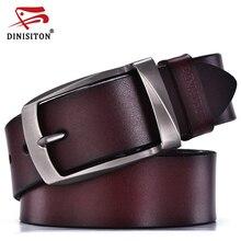 DINISITON thiết kế thắt lưng nam chất lượng cao thắt lưng da chính hãng người đàn ông thời trang dây đeo da bò nam thắt lưng cho nam giới jeans da bò(China (Mainland))