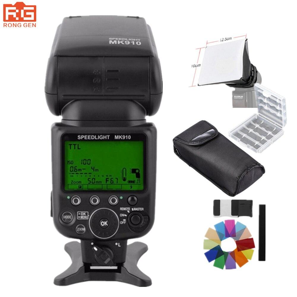 MEIKE MK-910 MK910 i-TTL Flash Speedlite1/8000 S w Flash rebote difusor para Nikon SB900 SB800 SB600 D610 D4 D800 D7100 Df