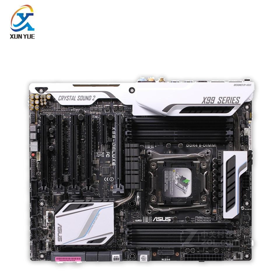 X99-DELUXE Original Used Desktop Motherboard Intel X99 Socket LGA 2011-V3 DDR4 64G SATA3 USB3.0 ATX