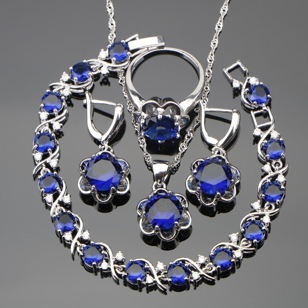 925 Sterling Silver Costume Jewelry Sets Women Earrings ...