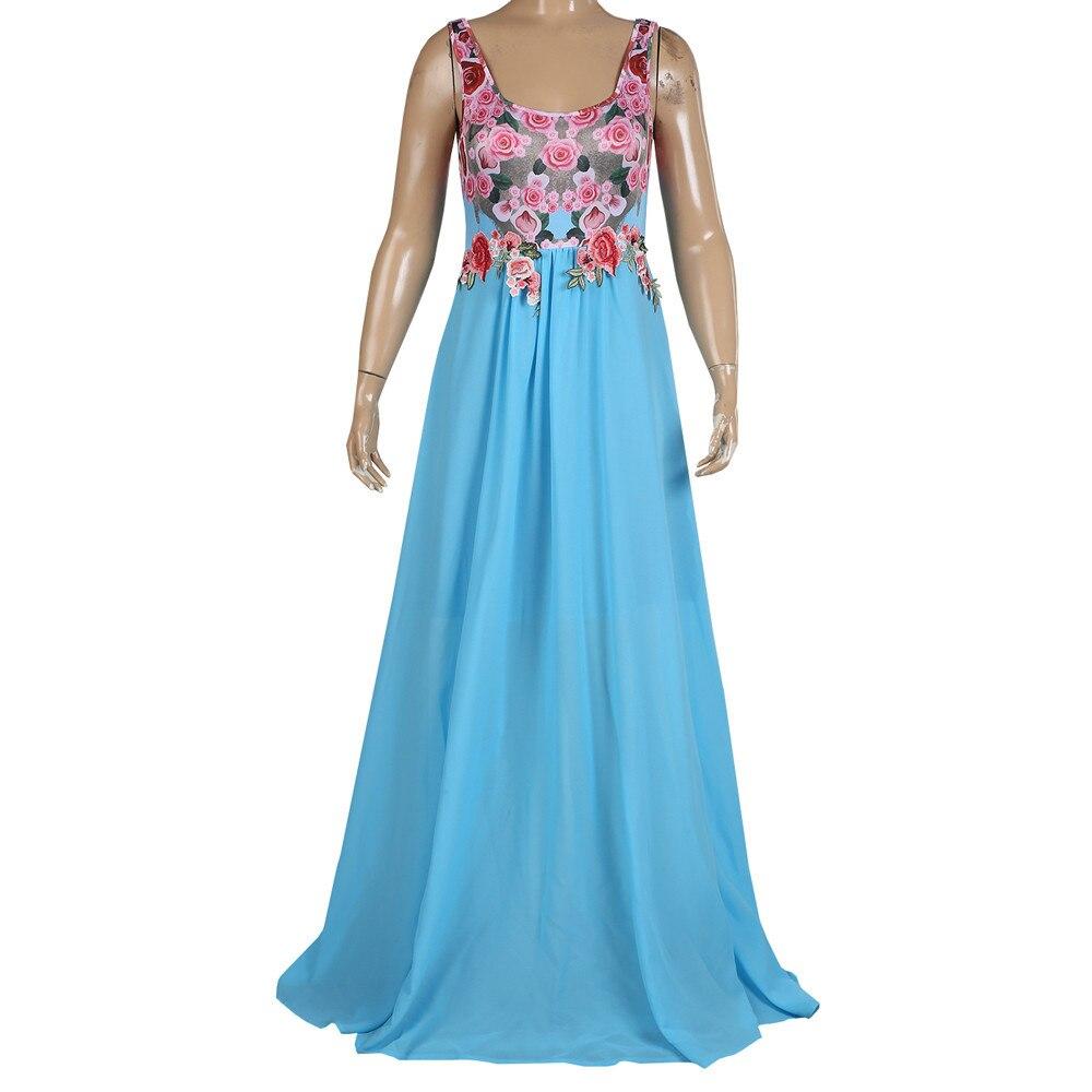 Summer Lace Applique O Neck Elegant Maxi Dress Women Sexy Dresses Sleeveless Floral Print Party Dress Vestidos Sukienki Feminino 1