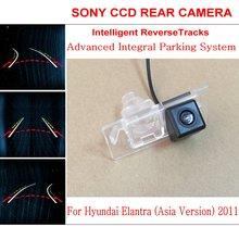 Автомобиль Интеллектуальные Парковка Треки Камеры ДЛЯ Hyundai Elantra (азия) 2011/HD Резервного копирования Камера Заднего Вида/Камера Заднего вида