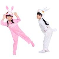 לבן בעלי החיים בגדי ביצועים של ילדי תחפושת ריקוד ארנב אבקת תינוק בסגנון קריקטורה ארנב קטן