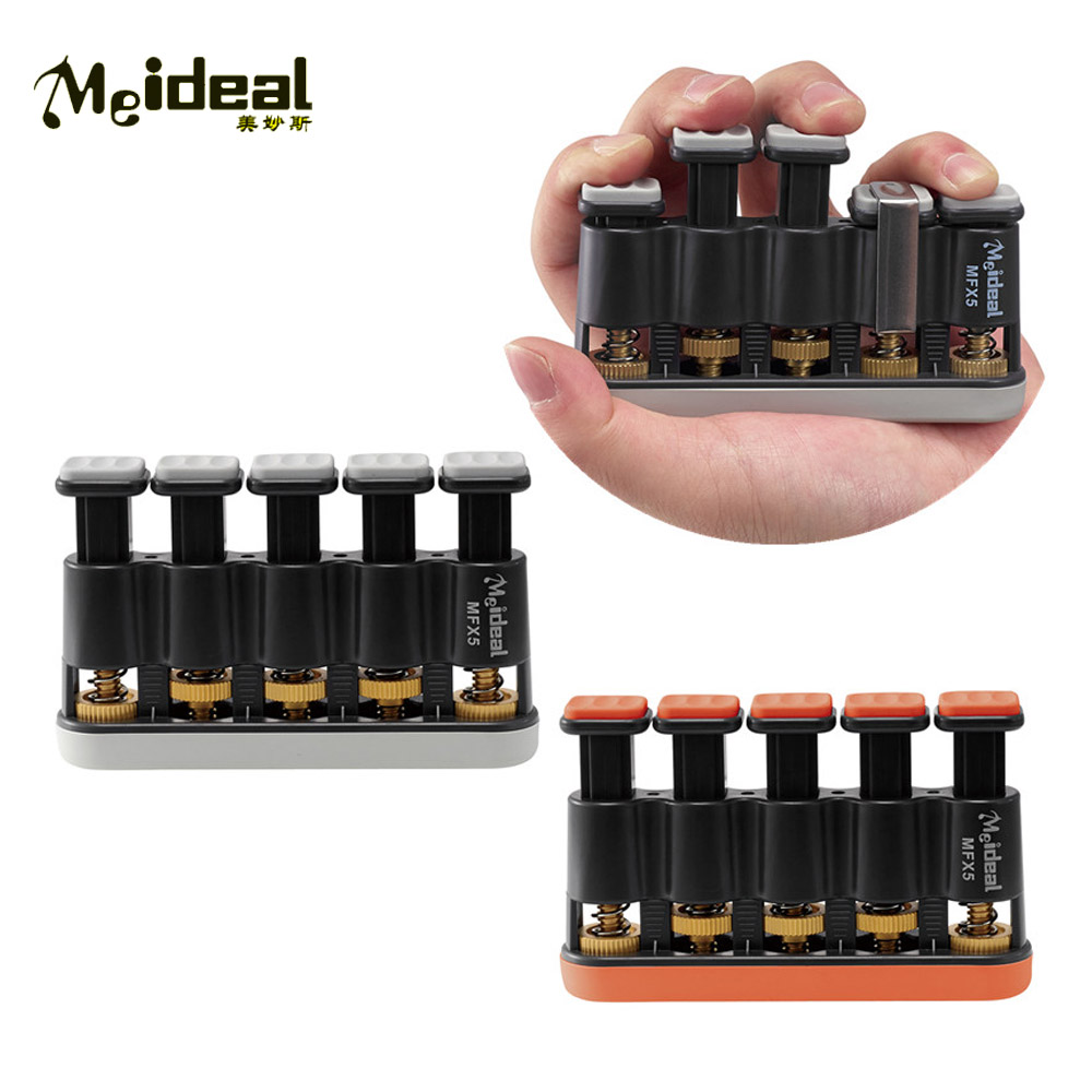 Meideal MFX5 Adjustable Guitar Hand Finger Exerciser Exercises Strengthener Tension Hand Grip Trainer Bass Guitar Piano Parts цена и фото