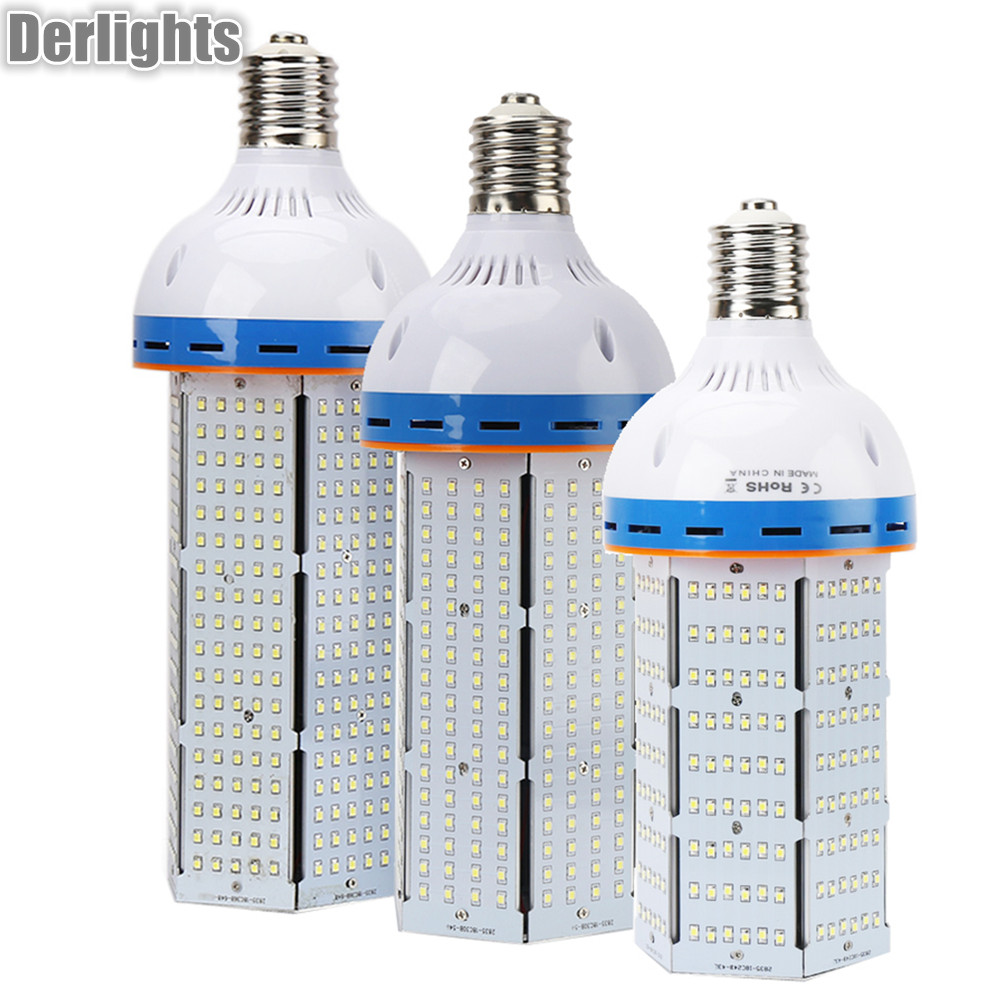 цены 4pcs/Lot 100W 120W 140W E40 LED Corn Light SMD3528 AC85-265V Warm/Cold White AC85-265V Super Bright LED Corn Bulb Lighting