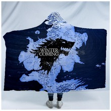 Plstar Cosmos Game of Thrones Blanket  Hooded 3D full print Wearable Adults men women style3
