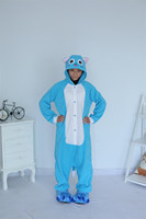 Cartoon Animal Halloween Kigurums New Adult Blue Happy Cat Onesie Pajamas Sleepsuit Sleepwear Anime Cosplay Costume