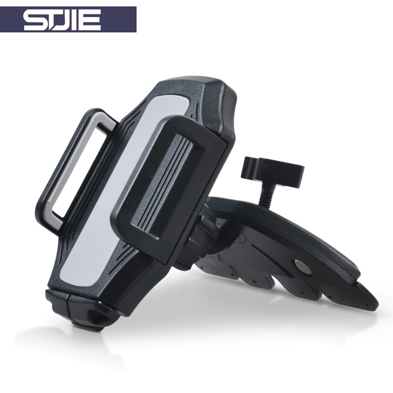STJIE Car Mobile Phone Holder Universal Cd Slot Smartphone Holder 360 Rotation Mobile Stand For Xiaomi iPhone Huawei Samsung