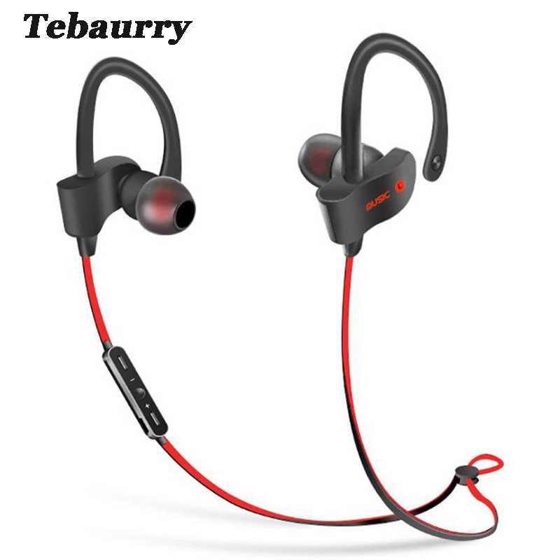 Tebaurry  Bluetooth Earphone Sport Running Bluetooth Headset Bass Earbuds Wireless Headphone With Microphone for phone new arrival xy1505 bluetooth wireless earphone sport running with microphone for all phone xiaomi good bass stereo