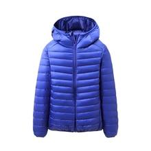 66eda9d95017 Autumn Winter Men's Down Coats New Hooded White Duck Down Jacket Parkas  Male Ultra Light Outwear