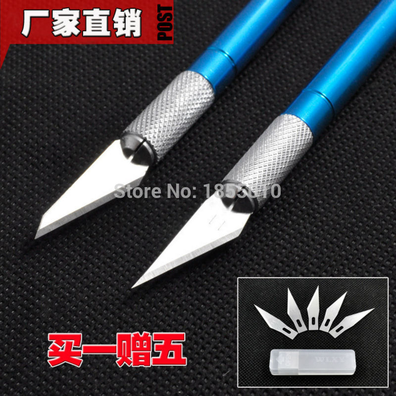 Metal Handle Scalpel Craft Knife Cutter Engraving Utility Knives With 6 PCS Blades Hand Tools For Stationery Art Supplies