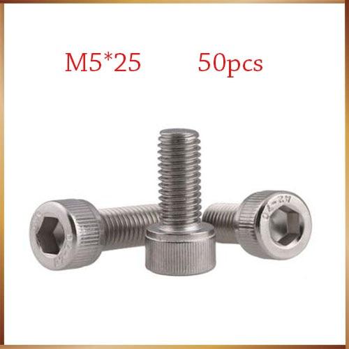 STAND Carbon Steel M5 x 10 mm Hex Socket Head Cap Screw Pack of 25