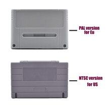 10 PCS um monte de Substituição Do Cartucho de Jogo de Alta qualidade cartão De Plástico caso Da Habitação Shell Para SNES consola de jogos (EUA JP Versão UE)