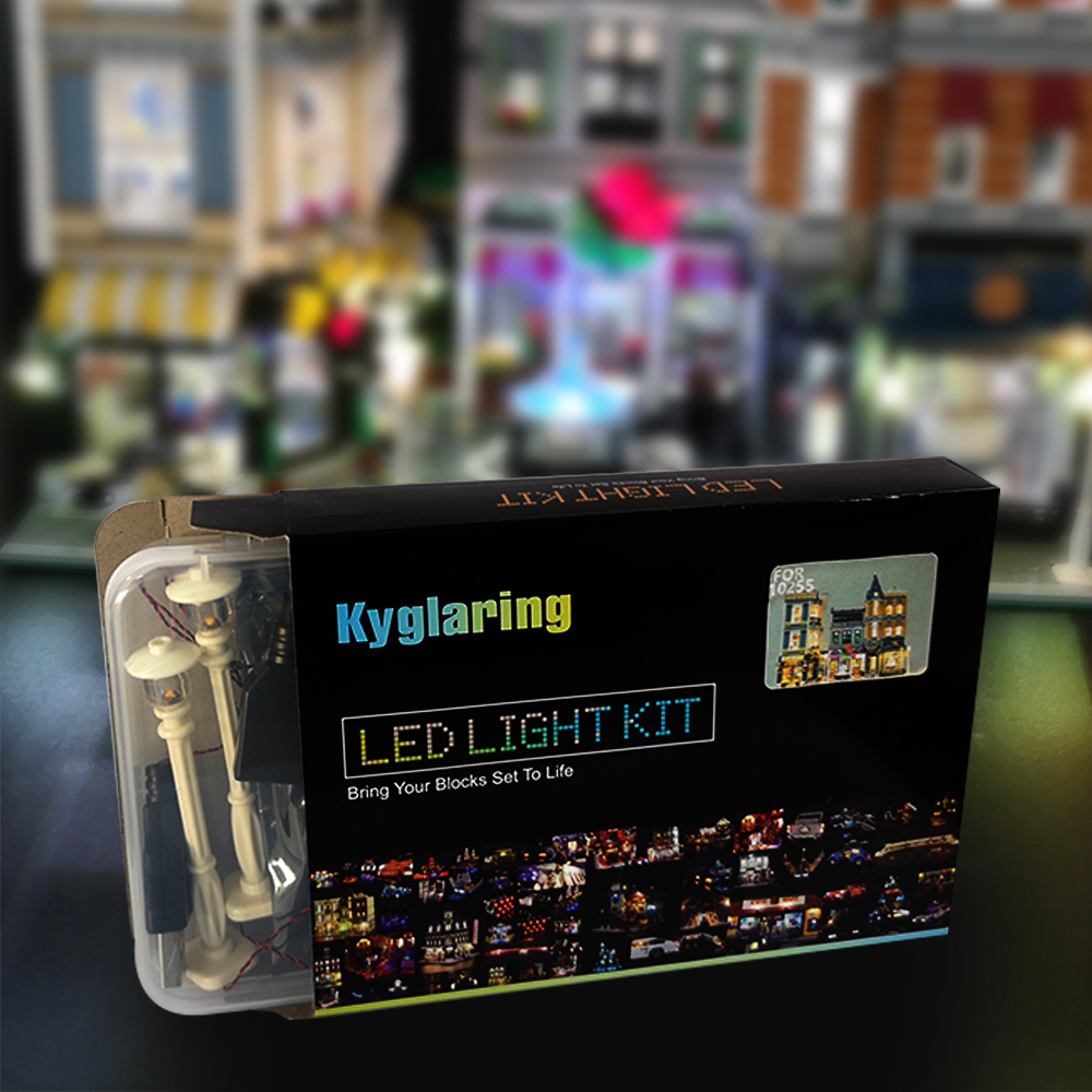 LED Light Kit only light included for 10255 Compatible with 15019 City The Assembly Square Set