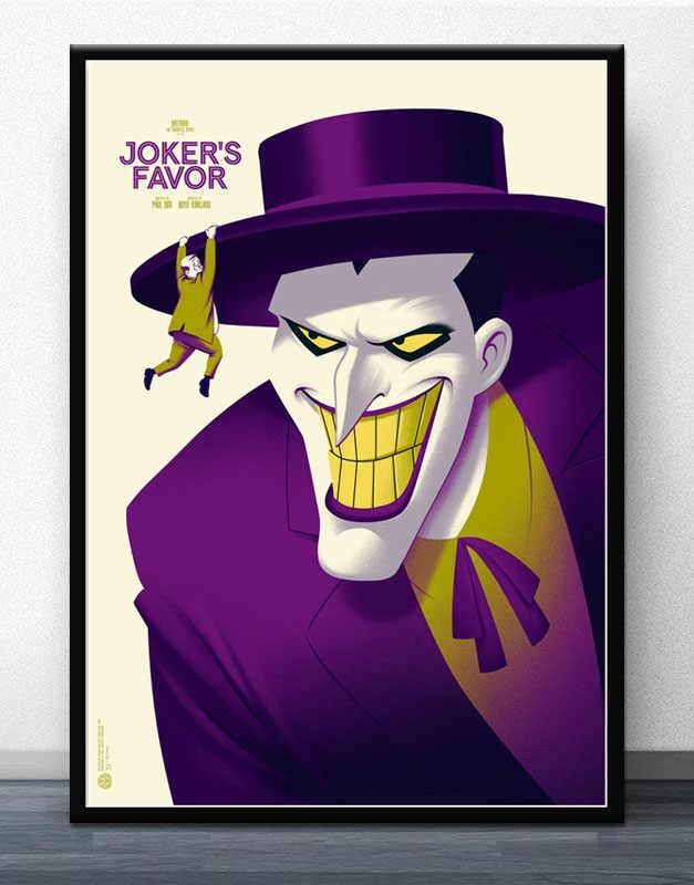 Fx993 Batman Animated Series Joker Laughing Fish Comic Series Movie Poster Art Silk Light Canvas Home Room Wall Printing Decor