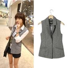 Free shipping , 2014 spring and autumn vest fashion herringbone outerwear plus size slim suit woolen vest