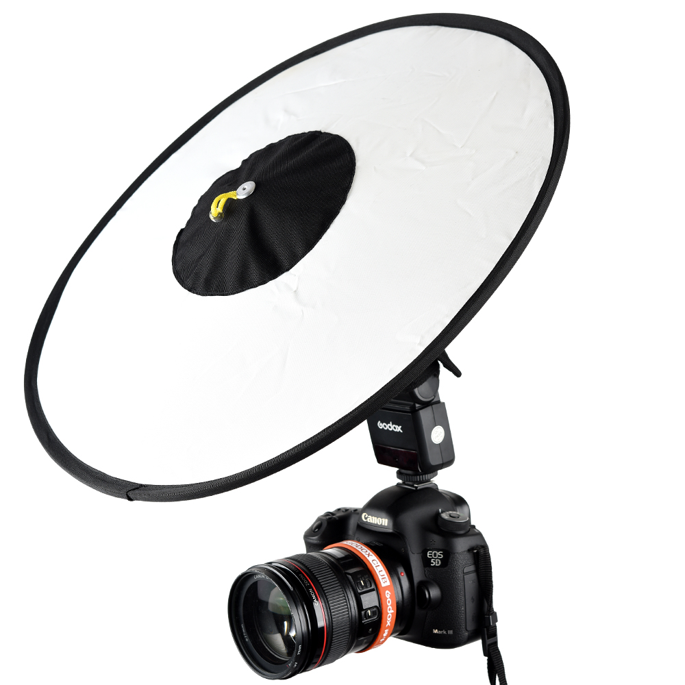 "Phot-R 40cm//16/"" Folding Softbox Diffuser Photo Studio Hotshoe Flash Speedlight"