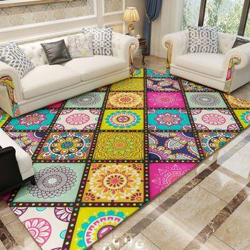 Alfombra geométrica moderna Para el hogar, Alfombra Para el suelo, Sala de...