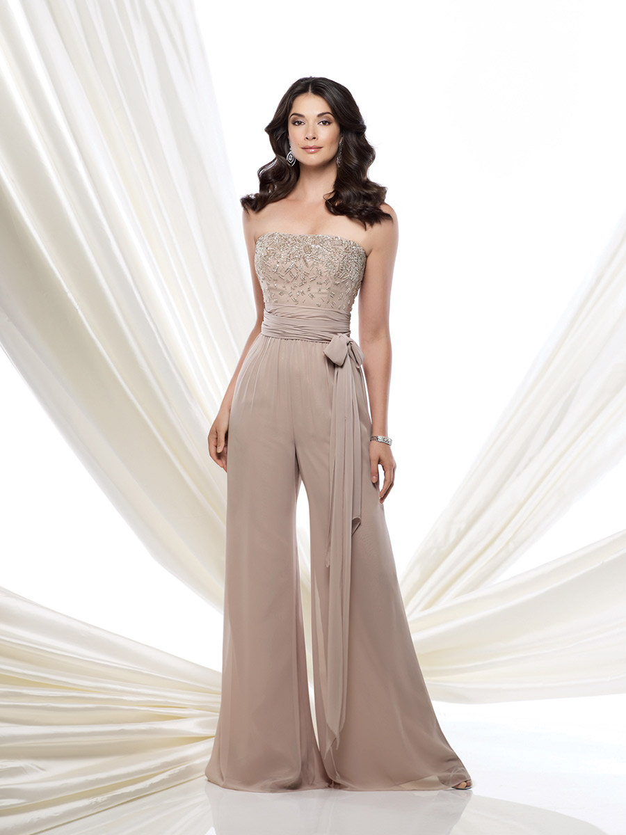 Imh162 New Elegant Mother Of The Bride Pant Suits Chiffon Pants Suit Wedding Party Gown Fashion Dress In Dresses
