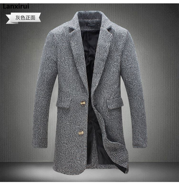 Mens Trench Coat  New Fashion Designer Long Mens Coat Autumn Winter Windproof Slim Trench Coat Men Plus Size Jm10