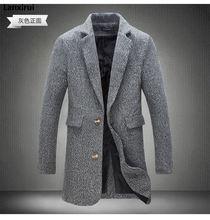 Mens Trench Coat  New Fashion Designer Long Mens Coat Autumn Winter Windproof Slim Trench Coat Men Plus Size Jm10