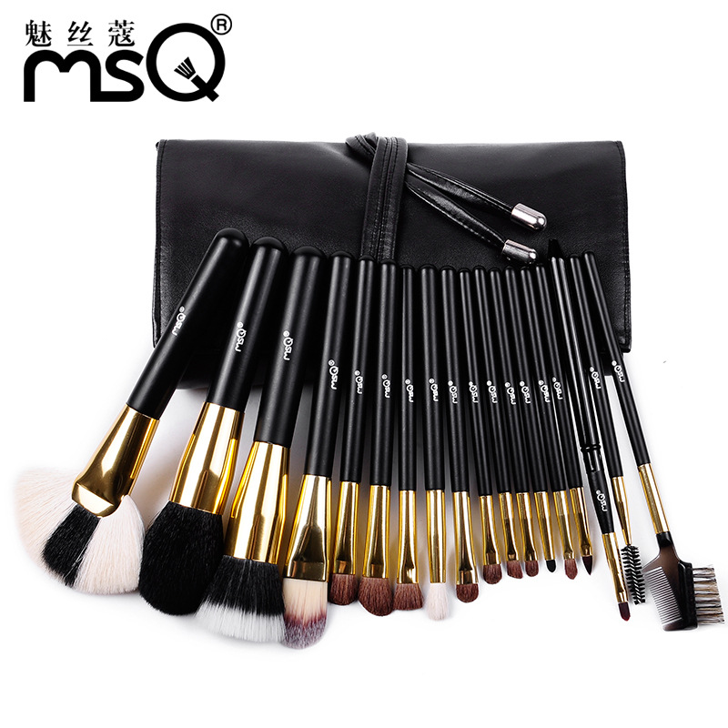 Professional 18Pcs Makeup Brush Set Goat Hair Foundation Cosmetic Powder Multi-function Toiletry Brushes Make Up Brushing Kits 32 pcs kit makeup brushes professional set cosmetic professional makeup brush set goat hair real makeup brushes brand techniques
