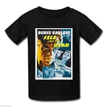BORIS KARLOFF ISLE OF THE DEAD Black T-Shirt  Harajuku Tops t shirt Fashion Classic Unique free shipping