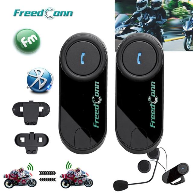 Free shipping!!2PCS FreedConn Brand Motorcycle Motorbike BT Bluetooth Multi Interphone Headset Helmet Intercom With FM Radio