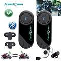 Frete grátis!! 2 PCS FreedConn Marca BT Bluetooth Multi Interphone Fone de Ouvido do Capacete Da Motocicleta Moto Interfone Com Rádio FM