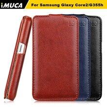Телефон Случаях Для Samsung Galaxy Core 2 Мода Вертикальный Флип Кожаный Case Обложка Чехол для Samsung Galaxy Core II Dual SIM G355H