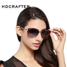 HDCRAFTER Polarized Cat Eye Sunglasses Women Fashion Style Brand Designer Driving Sun Glasses for Women Oculos De Sol Eyewear